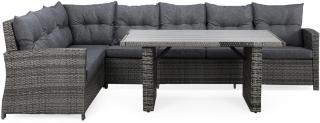 James Loungegruppe Grå/Aintwood - Bord Sofa Venstre Midtdel