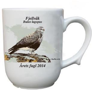Fjellvåk krus Årets fugl 2014