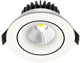 Nordtronic Velia Tilt LED Downlight 230V 12.7W Tunable 1800K-3000K 5704629000032