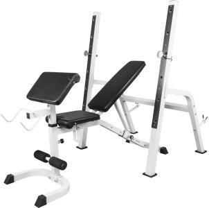 Gorilla Sports Multifunksjon Treningsbenk Med Squat Rack