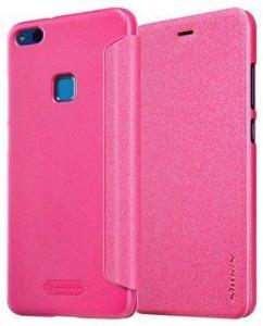 Huawei P10 Lite Nillkin Sparkle Flip-deksel - Varm Rosa