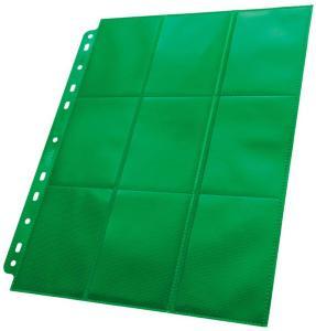Plastlomme 18-Pocket SideLoad Grønn x50 Ultimate Guard - Passer Double Sleeve