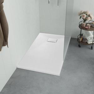 vidaXL Dusjbrett SMC hvit 90x90 cm