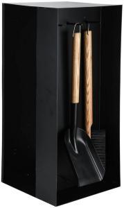 Esschert Design Vedstativ med peisverktøy svart stål FF407 -