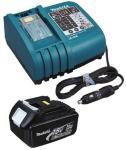 Billader Makita DC18SE + Batteri BL1830 18 V 3,0 Ah Li-Ion