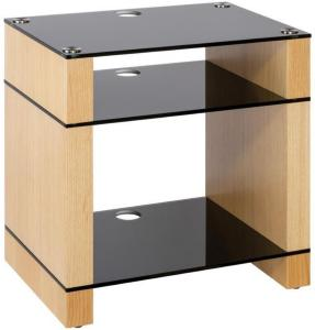 Blok Stax 600X Stereomøbel - Natural Oak / Black Glass