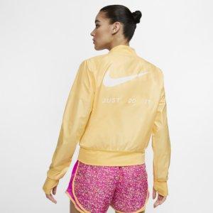 Nike løpejakke med hel glidelås til dame - Gold XL