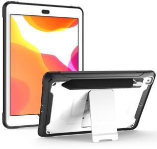 Rugged Series iPad 10.2 2019/2020 Hybrid-deksel with Stativ - Hvit