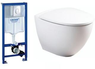 Komplett pakke m/GROHE sisterne, Ifö Sign Art vegghengt toalett og sete med Soft Closing