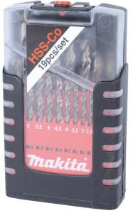 Borsett Makita HSS-Co 1-10 mm 19 stk