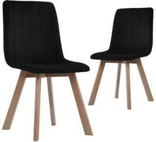 vidaXL Spisestoler 2 stk svart fløyel