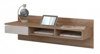Moderne skrivebord til vegg - Eik