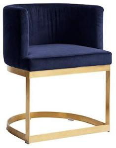 Nordal Lounge spisestol i fløyel - Blå