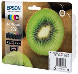 Epson 202 Multipack - 5 pakker - sort gul cyan magenta foto-sort - original - blækpatron - Blekkpatron Svart C13T02E74020