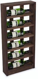 Traditional Wine Racks 6 Flaskers Vinstativ til vegg Mørk eik