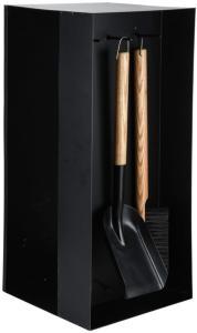 Esschert Design Vedstativ med peisverktøy svart stål FF407