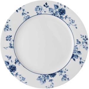 Tallerken Middag  26.cm Laura Ashley Chinese Rose blå/hvit porselen