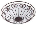 Plafond Colti Eglo Antikk 2 lamper, diameter 35 cm, brun/hvit