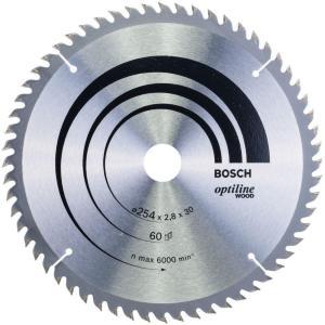Bosch sirkelsagblad ø254x30mm 60t 20gr tre