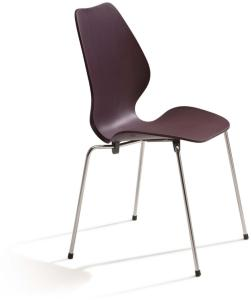 Fora Form City Stol Plast, Farge: Purple, Understell: Krom