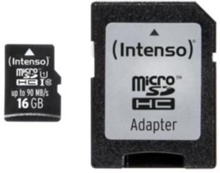 Intenso Micro SD 16GB UHS-I Professional 4034303022304 Tilsvarer: N/A Intenso