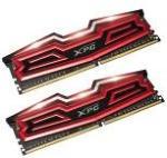 ADATA XPG Dazzle - DDR4 - 16 GB: 2 x 8 GB - DIMM 288-pin - 3000 MHz / PC4-24000 - CL16 - 1.35 V - ikke-bufret - ikke-ECC - rød/svart