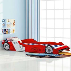 vidaXL Barnas reserbil-seng 90x200 cm rød