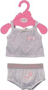 BABY Born Underwear 43 cm - grått undertøy til dukke