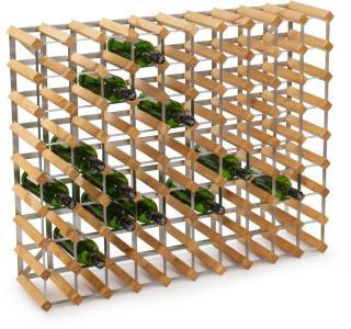 Traditional Wine Racks Vinstativ Påbyggingsbart 90 flasker, Light oak