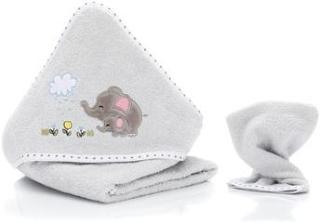 fillikid Hettehåndklesett elefantgrå inkl. vaskeklut