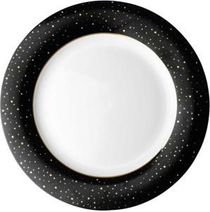 Middagstallerken porselen 26cm. Black Sparklin  Loft