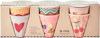 Rice Kopp Bunny Melamin 6-pack, Pink