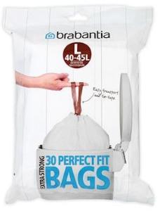 Brabantia Avfallsposer G [Dispenser Pakk med 30 poser] 40-45 L Hvit