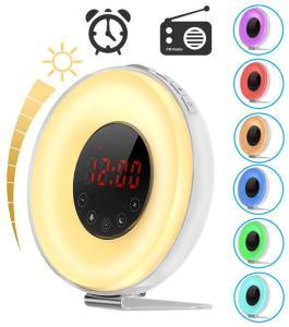 Digital Vekkerklokke-radio med Fargerike LED-lys