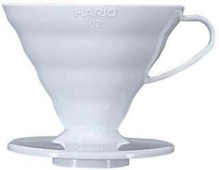 Hario 2 Cup Dripper V60 Hvit keramikk