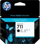 HP 711 - 80 ml - svart - original - blekkpatron - for DesignJet T120, T120 ePrinter, T125, T130, T520, T520 ePrinter, T525, T530 (CZ133A)