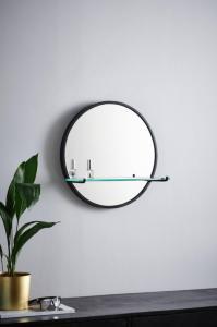 SVEA speil med hylle - lite Svart