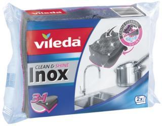Vileda Spesialsvamp Inox Clean&Protect, 2-pakk 4023103199989 Tilsvarer: N/A Vileda