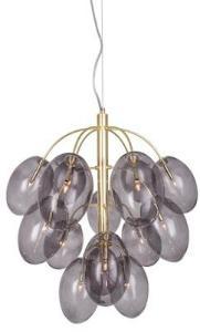 Globen Lighting Pendel Drops Messing Røyk Inkl. G4