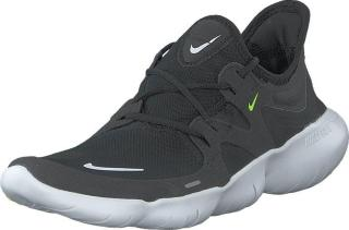 Nike Wmns Free Rn 5.0 Black/white-anthracite-volt, Sko, Sneakers og Treningssko, Sneakers, Grå, Dame, 36