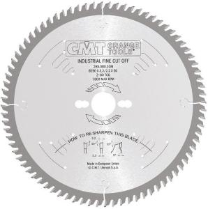 Sagblad for tre CMT 250x3.2x35 Z80 5°