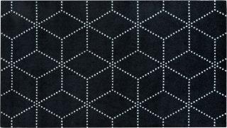 Hagl Black dørmatte 85x150 cm Heymat