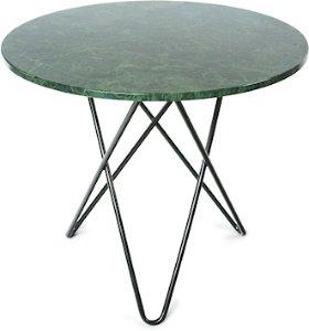 OX DENMARQ Dining O-table - Grønn marmor, svart understell