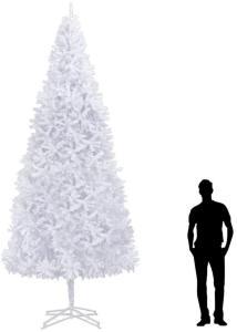 Kunstig juletre 400 cm hvit - Hvit