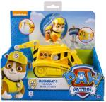 Paw Patrol Basic Vehicle With Pup, Rubble Transforming Bulldozer