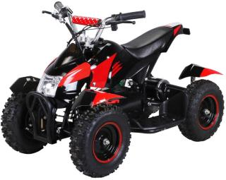 Mini ATV Cobra 800w elektrisk sort-rød