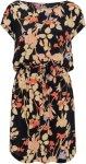 Soaked in Luxury Kjole SL Amma Dress Women Black/Floral Print