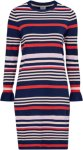 Saint Tropez Kjole Striped Dress Women Ant blue