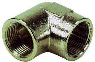 Ezze 3006093062 Vinkel metall, inv gjenge G25, messing