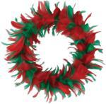 Beistle Julekrans med fjær - Jul